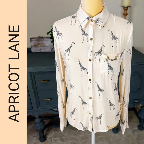 a6967e2254c577 Apricot Lane Tops - Apricot Lane Giraffe Print Blouse